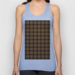Brown Weave Unisex Tank Top