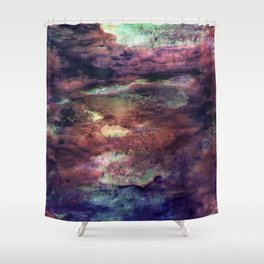 Space Algae Shower Curtain