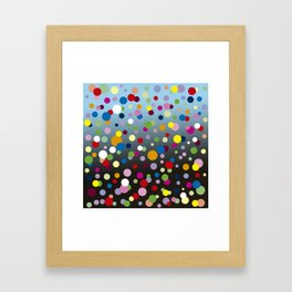 Multi-colored bubbles Framed Art Print