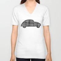 bug V-neck T-shirts featuring Bug by Derek Donovan