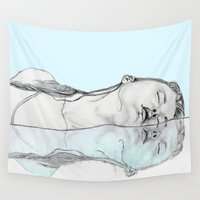 swim Wall Tapestries featuring Swim by Christina Marie