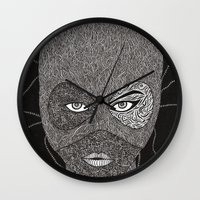 catwoman Wall Clocks featuring CATWOMAN by OKAINA IMAGE
