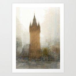 Impressionist image of the Eschenheimer Tor, Frankfurt, Germany Art Print