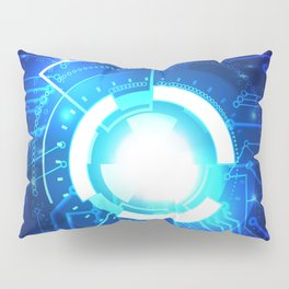 Circuit composed of abstract graphics  Pillow Sham