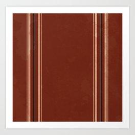 Brown Poncho Pattern Art Print