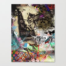 Mixed media Canvas Print