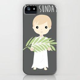 Palm Sunday Boy Angel iPhone Case