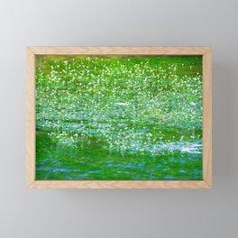 Starry flowers on the water Framed Mini Art Print