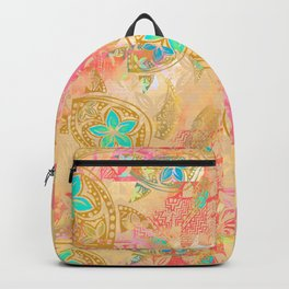 Polynesian Honu Print Backpack