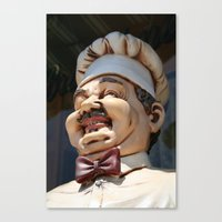 chef Canvas Prints featuring CHEF by Andrea Jean Clausen - andreajeanco