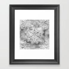 MOONLIGHT MANDALA Framed Art Print