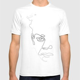 Half-a-Basquiat: One line T-shirt
