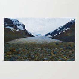 Columbia Icefields in Jasper National Park, Canada Rug