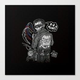 R U Mine? (Black BG) Canvas Print