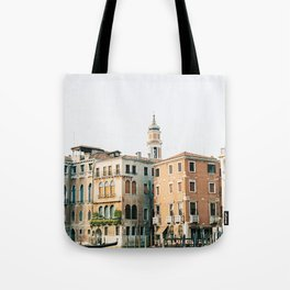 Travel photography | Architecture of Venice | Pastel colored buildings and the canals | Italy Tote Bag