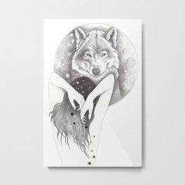 WolfMoon Metal Print