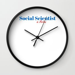 Happy Social Scientist Wall Clock