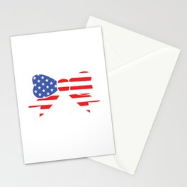 America Bow Graphic Patriotic 'Merica T-shirt Stationery Cards