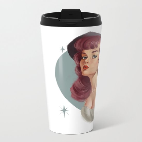 Pinup Metal Travel Mug