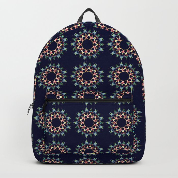 Ice blue and winter red fantasy star Backpack