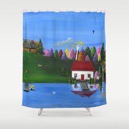 Hilly Hues Shower Curtain
