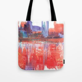 Abstract City Scape Tote Bag