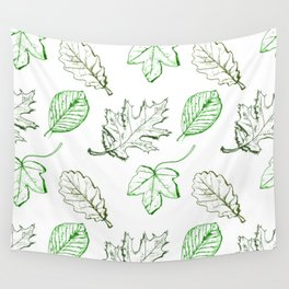 Leaves (greens) Wall Tapestry