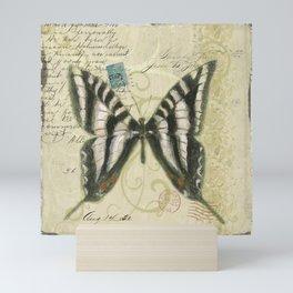 Zebra Butterfly Mini Art Print