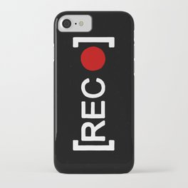 Record button - [REC] iPhone Case
