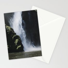 Waterfall at Milford Sound Stationery Cards
