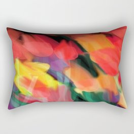 Meadow Flowers At Night Abstract Rectangular Pillow