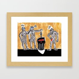 Tribute to Minos Print Framed Art Print