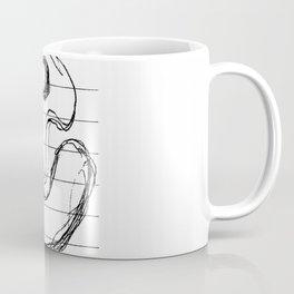 Suggestive Doodle on White Notepaper Coffee Mug