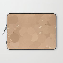 Toasted Almond Bubble Dot Color Accent Laptop Sleeve