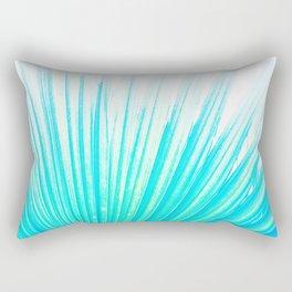 Solar Summer Fan Palms - Blue and Aqua Rectangular Pillow