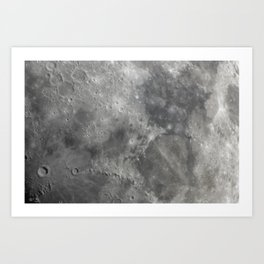 Moon closeup Art Print