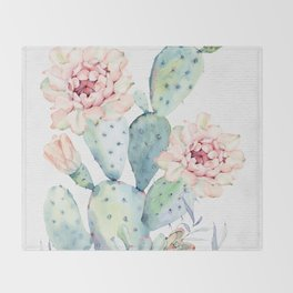 Prettiest Cactus Rose by Nature Magick Throw Blanket