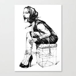 Damsel in Silk Scarf Canvas Print