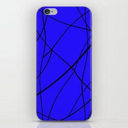 blue & black mess iPhone Skin