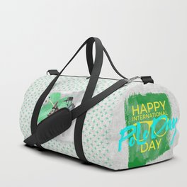 happy polo day green Duffle Bag
