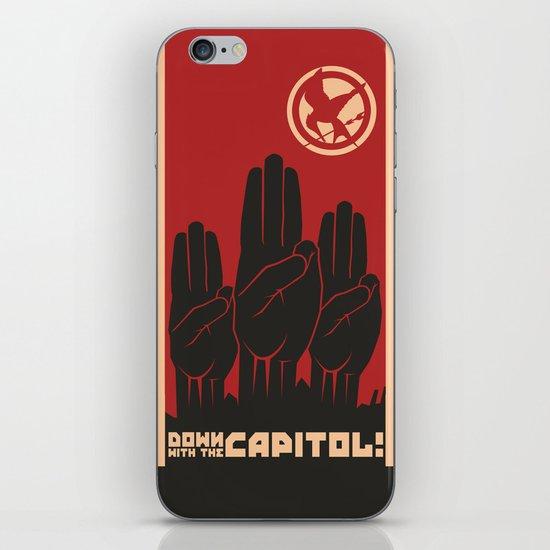Down With The Capitol - Propaganda iPhone & iPod Skin