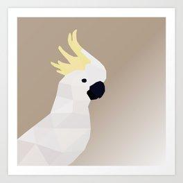 COCKATOO BIRD LOW POLY ART Art Print