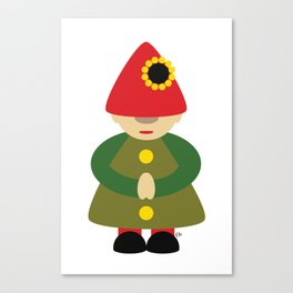 Gnome on White Canvas Print
