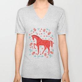 The Red Horse Unisex V-Neck