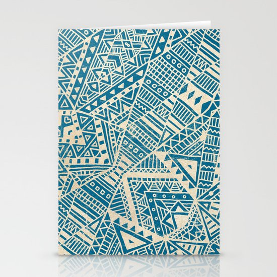 Tribal (blue)  Stationery Cards