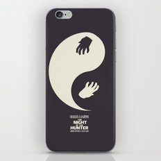 The Night of the Hunter - Minimal Poster (Robert Mitchum, Charles Laughton) classic Hollywood mo iPhone & iPod Skin