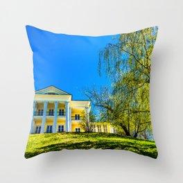 Tea House Throw Pillow