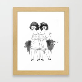 Siamesas  Framed Art Print