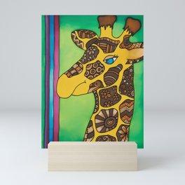 Giant and gentle, giraffe Josephine Mini Art Print