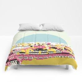 Rooftop view Comforters